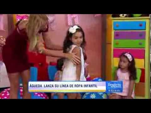 "�gueda L�pez, la mujer de Luis Fonsi, present� su l�nea de ropa infantil ""Mikaboo"""