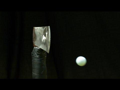 Golf Ball Vs. Axe Blade  | How Ridiculous
