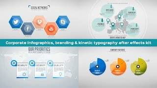 Corporate Branding, kinetic Typography and Infographics after effects package