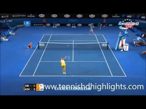Victoria Azarenka vs Dominika Cibulkova australian open 2015 highlights HD|| 26-1-2015