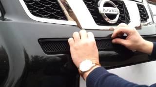 Видео: Защитная сетка радиатора Nissan X Trail 2011 black