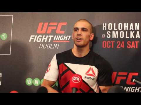 Tom Breese Post Fight Media Scrum at UFC Dublin