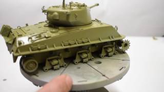Mission Models US MMP Paint  Tutorial Pt 2 painting the Tamiya Sherman in 1/35 Plus Camouflage
