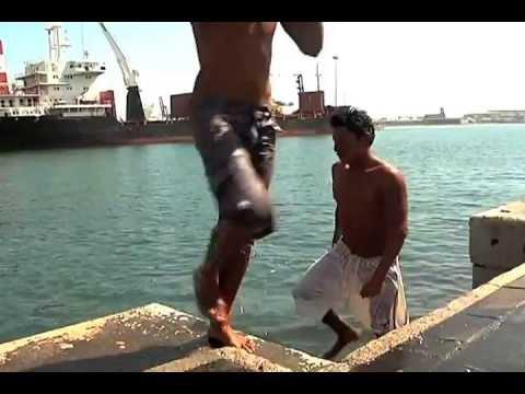 Los sacamonedas del Malecón de Veracruz