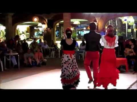 Compilatie Flamenco Show Bajondillo Torremolinos 4 Juli 2015