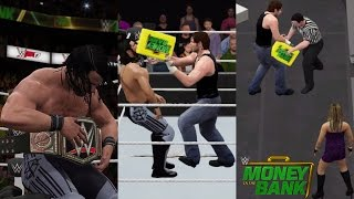 WWE 2K17 Recreation: Dean Ambrose Cashes in on Seth Rollins (Money in the Bank 2016) -PS4/2K16 Mods)