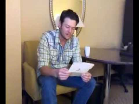 Pure BS: Blake Shelton Reads A Poem