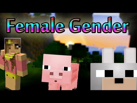 Minecraft Mods - Female Gender Option 1.3.2 Review and Tutorial