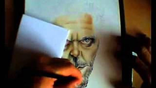 Dr House Caricature ( With Color Pencil ) - Speed Drawing