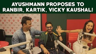 Ayushmann Khurrana : 'I want to Kiss Ranbir Kapoor!'