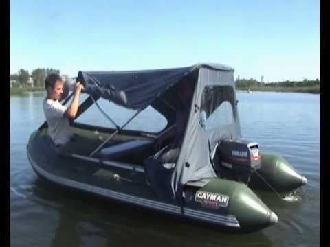 мотор на лодке с переди