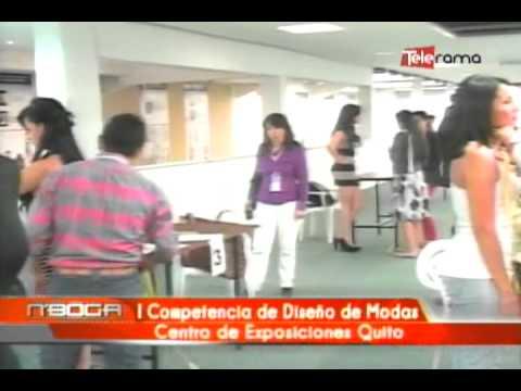I Competencia de diseño de modas Centro de Exposiciones Quito