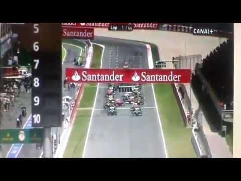 Alonso wonderful start Spanish Grand Prix 2013 Highlights   Catulunya Barcelona