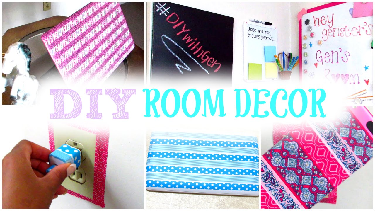 Diy room decor decorate your room with washi tape cute cheap and affordable youtube How to decorate your bedroom cheap