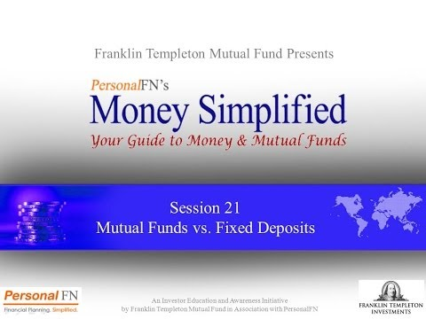 Lecture 21: Mutual Funds vs Fixed Deposits