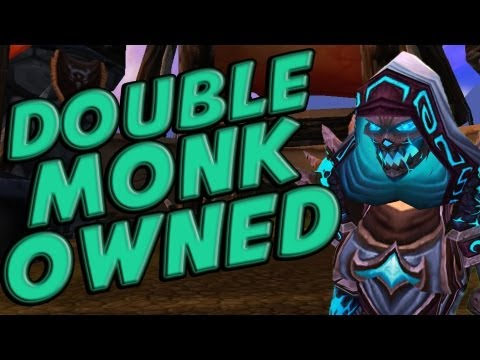 Cartoonz Frost Mage vs TWO Monks - Level 90 Mists of Pandaria PvP Challenge
