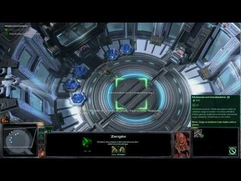 Starcraft II: Heart of the Swarm - 9600GT Gameplay - Primeiros Minutos