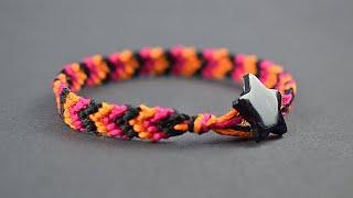 DIY - How to make Chevron Friendship Bracelet - Easy Tutorial