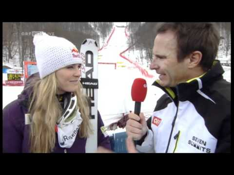 Lindsey Vonn Sochi DH Interview