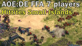 Age of Empires: Definitive Edition - FFA 7p Gameplay Small Islands Hittites - eartahhj - 01/03/2018