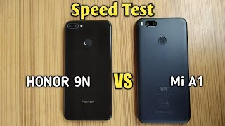 Honor 9n vs Mi A1 - SPEED TEST COMPARISON ||
