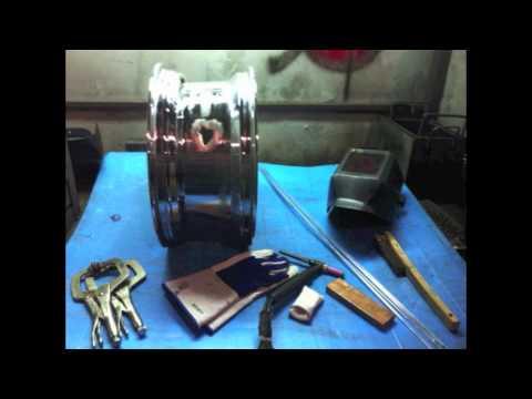 Aluminum Welder  demo - Miller diversion and Everlast powertig part2