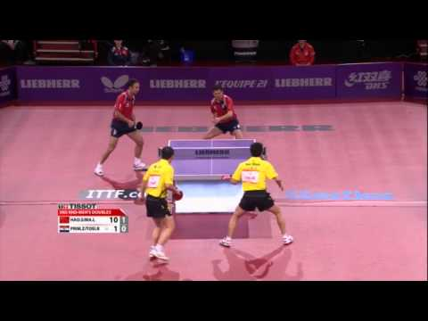 WTTC 2013 Highlights: Ma Lin/Hao Shuai vs Zoran Primorac/Roko Tosic (Round 2)