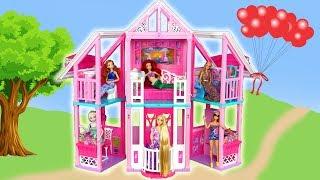 New Barbie Malibu House unboxing Assembly Rumah boneka Barbie baru Nova Casa de boneca Barbie