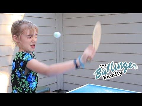 Ping Pong Fail - Ballinger Family Camping Vlogs Begin!!! Summer Vacation 2017