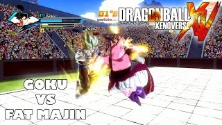 Dragon Ball Xenoverse Super Saiyan Goku vs Fat Majin (PS4 Local Multiplayer Gameplay)