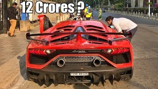 India's Most Expensive Car On Road - Lamborghini Aventador SVJ