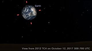 Potentially Hazardous Asteroid 2012 TC4 | Close Approach Visuals