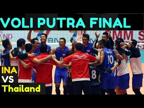 FINAL Voli Putra Indonesia vs Thailand FINAL SEA Games Kuala Lumpur 2017