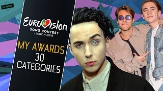 EUROVISION 2018: MY AWARDS [Before The Show] 30 Categories