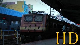 INDIAN RAILWAYS TIRUPATI BENGALURU FULL MONSOON JOURNEY COMPILATION, WAP4 hauled Intercity Express
