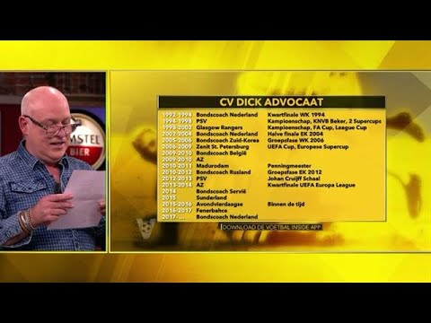HAHA! Gijp leest CV van Dick Advocaat voor - VOETBAL INSIDE