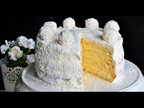 Торт Рафаэлло. Простой рецепт, торт конфета. Торт с кокосовой стружкой на 8 Марта
