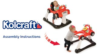 Instructions for the Kolcraft 4x4 2-in-1 Activity Walker