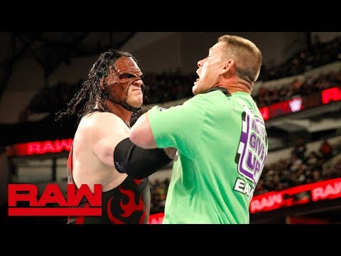 John Cena incites the wrath of Kane after insulting The Undertaker: Raw, March 19, 2018 thumbnail