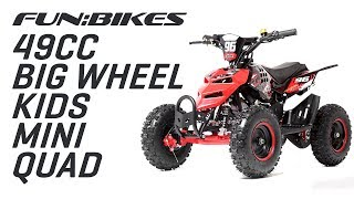 Product Overview: FunBikes 49cc Kids Big Wheel Mini Quad Bike