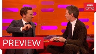 Eddie Redmayne and Benedict Cumberbatch perform magic! - The Graham Norton Show 2016 - BBC One