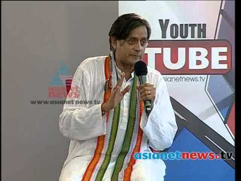 Youth Tube With Shashi Tharoor 2nd April 2014part 2 ശശി തരൂര്‍ video