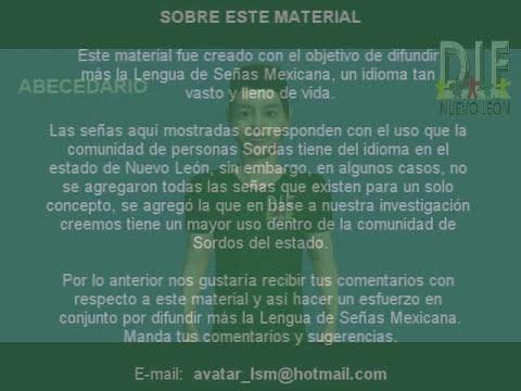 LENGUA DE SEÑAS MEXICANA TEMA 1: ABECEDARIO Diccionario Español - LSM