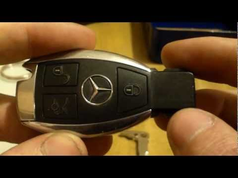 Mercedes w202 chrome smart key battery replacement and info