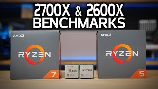 AMD 2700X & 2600X Benchmarks vs 8700K, 1800X & 1600X! RYZEN 2 LAUNCH