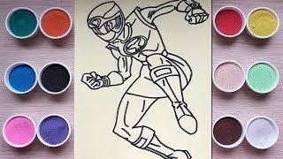 Tô màu tranh cát siêu nhân cuồng phong - Coloring superman - Đồ chơi trẻ em Chim Xinh