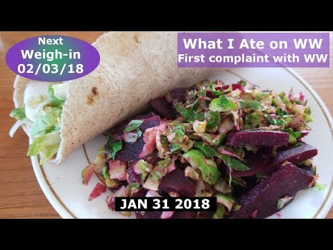 What I ate | My first problem with Weight Watchers | JAN 31 2018 Daily Vlog