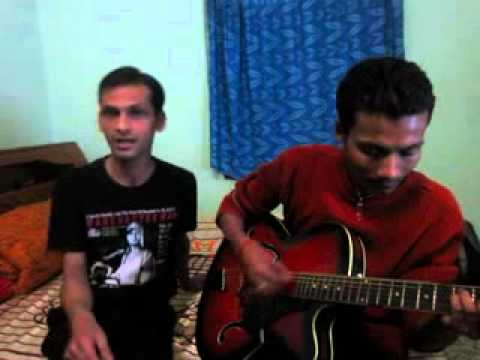 Aisa jakhm diya hai on guitar by Paras Sharma and Me