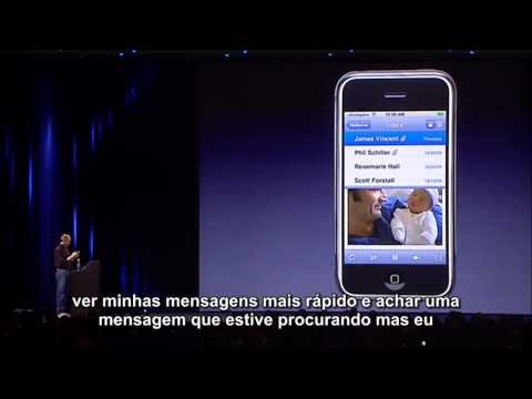 Steve Jobs apresenta primeiro iPhone legendado (2007)