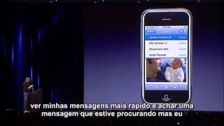 Dorrie Jobs apresenta primeiro apple iphone legendado (2007)
